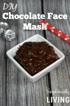 DIY Chocolate Face Mask- it's edible too! DIY Chocolate Face Mask- it's edible too! DIY Chocolate Face Mask- it's edible too! Clay Face Mask, Acne Face Mask, Skin Mask, Face Face, Face Diy, Chocolate Facial, Chocolate Face Mask, Chocolate Diy, Face Mask For Spots