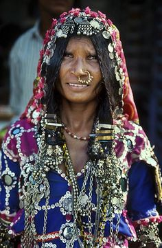 A colorful tribal lady in Andhara pradesh, South India