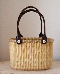Nantucket Basket Double wine as tote