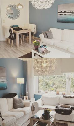 INTERIOR WOHNEN Karibik Blaues Wohnzimmer Mit IKEA Mbeln Ektorp Maskros Und Lack