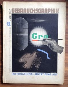 Gebrauchsgraphik - International Advertising Art magazine - June 1937, design by S A Watkins | by mikeyashworth