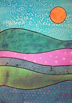 Bri-coco de Lolo: Paysage à l'aquarelle