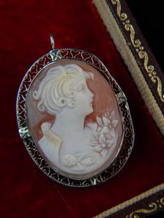 Cameo Jewelry Shell Cameo Brooch Pin Pendant