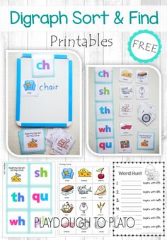 Free Digraph Sort and Find - Playdough To Plato