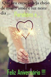 Que seu coração seja cheio de muito amor e luz neste dia