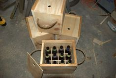 How-To: Wooden Beer Bottle Crate from Instructables user, pubcrawlingpb #homebrew