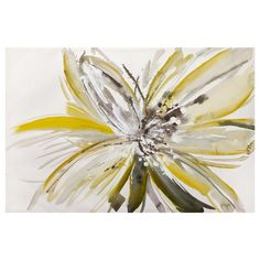 Canvas - Flower with Hand-Painted Details/Canvas + Framed Art/Wall Decor|Bouclair.com