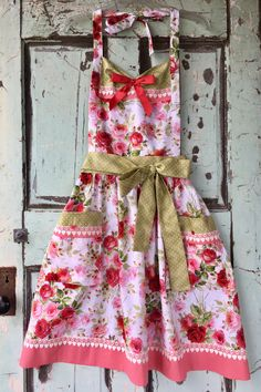 Antique Roses and Lace Apron