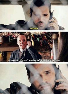 """This was the best thing ever! Coulson and grant. Phil """"sass master"""" Coulson"""