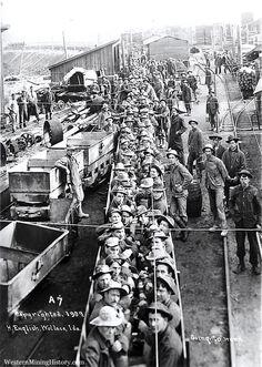 Idaho Mining History | Going to Work - Wallace Idaho