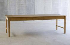 finisterre table. Belgian. oak.