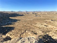 A view of Red Rock Canyon State Park California from the top of Desert View Naure Trail