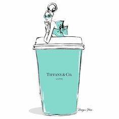 Gigantic Tiffany Latte to go please! Stylish illustration by the talented Megan Hess. Twitter / Youtube / Bloglovin / Google+ / Instagram / LinkedIn / Pinterest / Tumblr