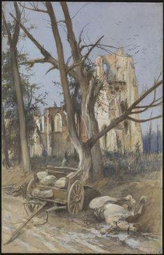 Laerdenghe, Belgique. François Flameng. 16 Août 1917.