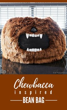 Cool Star Wars inspired Chewbacca bean bag. Ultrasoft, plush, and simply too epic to pass up, this beanbag is a great seat to watch the series in. #ad #starwars #chewbacca #beanbag #furniture #homedecor #giftidea #geek