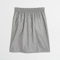 J.Crew Factory wool sidewalk skirt (360 SVC) ❤ liked on Polyvore featuring skirts, green skirt, wool skirts, stretch wool skirt, elastic waist skirt and j. crew skirts