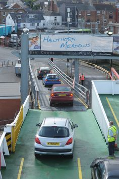 Red Funnel ferry in East Cowes