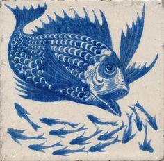 Fish tile by William De Morgan. ~via the De Morgan Centre, FB