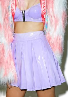 clothes: this purple is pretty much the best color ever. 24HRS X Dolls Kill Princess Pastel Vinyl Skirt