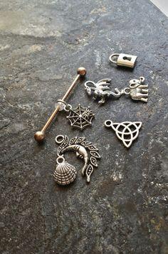 #ROSEGold Plated Industrial Barbell Scaffold by FeatherBlueJewelry #piercings #piercing #industrial #barbell #scaffold #earrings #bodyjewelry #industrialpiercing #industrialbarbell #scaffoldpiercing #14g #gauges #bodypiercings