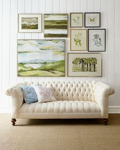 Old Hickory Tannery  Ellsworth Neutral Tufted Sofa        Compare At: $3,799.00   Special Value:  $2,099.00 NM