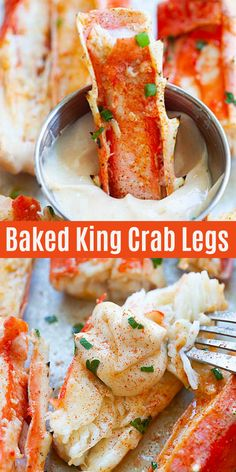 Five Approaches To Economize Transforming Your Kitchen Area Baked King Crab - The Best King Crab Recipe Baked With Sriracha Lemon Butter. These Crab Legs Are So Juicy, Sweet, And Perfect For The Holidays And Special Occasions Lobster Recipes, Crab Recipes, Appetizer Recipes, Baking Recipes, King Crab Recipe, Baked King Crab Legs Recipe, Baked Crab Legs, Steamed Crab Legs, Crab Dishes
