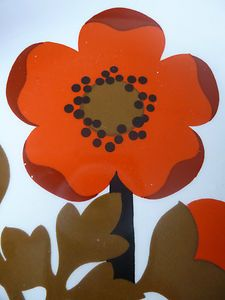 Retro 60s PIMPERNEL Poppy SIDE PLATES x 4 Meakin - Vtg 70s Marimekko Heals era