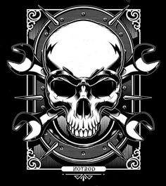 Metal Skull by on DeviantArt Metal Skull, Skull Art, Chevy Tattoo, Banners, Skull Pictures, Desenho Tattoo, Skulls And Roses, Car Drawings, Dieselpunk