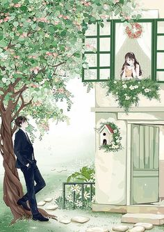 test by Yul Cute Couple Art, Anime Love Couple, Couple Cartoon, Anime Couples Manga, Cute Anime Couples, Couple Illustration, Illustration Art, Animated Love Images, Cute Photography