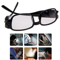 Multi Strength Men Women Reading Glasses With Dual Led Lights Diopter Magnifier