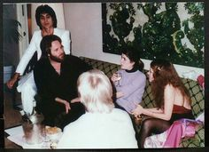 Stevie talking to Carl Wilson of the Beach Boys Carl's future wife Gina Martin…