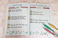 Bullet Journal for Blogging