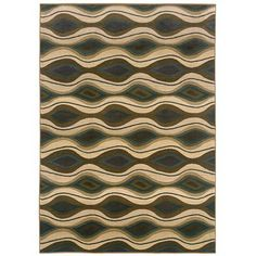 Odyssey Green/Beige Rug Rug Size: 4' x 5'9 Machine woven. Soil, stain and fade resistant.. 100 Nylon..  #OrientalWeavers #Furniture