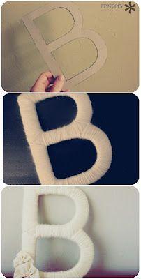 decorare casa lettere in cartone 5