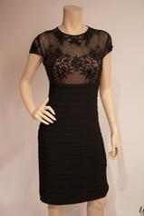 260595I Lycra pleat dress with beaded trim short sleeves Estelle's Dressy Dresses in Farmingdale , NY