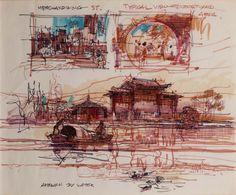 China Pavillion, EPCOT Center, Walt Disney World - Herb Ryman