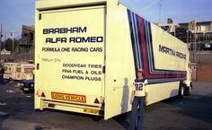 Brabham Alfa Romeo car transporter in Zolder 1979