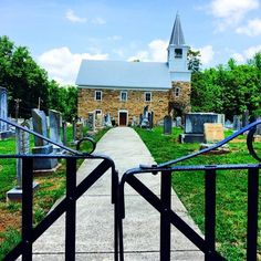 """Through the gates, Organ Lutheran Church (Original Sanctuary), Rowan County, NC  """"I said in the cutting off of my days, I shall go to the gates of my grave: I am deprived of the residue of my years"""" (Isaiah 38:10)"""