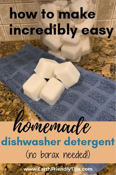 If you're looking to create a more natural home one great place to start is the kitchen. Learn how you can make homemade dishwasher detergent that doesn't require borax for safe cleaning. Diy Home Cleaning, Homemade Cleaning Products, Deep Cleaning Tips, Cleaning Recipes, House Cleaning Tips, Green Cleaning, Natural Cleaning Products, Cleaning Hacks, Cleaning Solutions