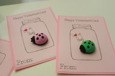 Love Bug! Lady Bug Valentine Cards with Toy Lady Bug Erasers- Set of 16  Each card features a removable lady bug puzzle eraser The words are drawn by a die cut machine with a permanent black marker. These cards are my original design. Measure 5.25 inches tall and 4.25 inches wide. Includes 20 cards, 20 erasers, and 20 removable glue dots. Simply adhere the eraser to the cards when your package arrives.  Need a different amount? Please check with me for availability. Questions? Please ask