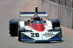 John Watson of Great Britain drives the Penske Cosworth during the inaugural United States Grand Prix West at the Long Beach Street. Formula 1 Car, Fat Man, Classic Motors, John Watson, F1 Racing, Indy Cars, First Car, Long Beach, Motor Car