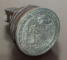 Seal of Náchod town from Czechia Bible Museum, Seal Design, Medieval Jewelry, Wax Seal Stamp, Visual Diary, Signet Ring, Middle Ages, Old Things, Antiques