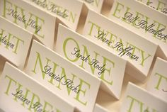 Printable, Customized Elegant Place Cards - Special Event/wedding/birthday Party