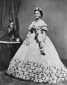 1861 Mary Todd Lincoln first lady Inaugural ball gown