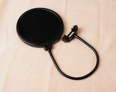 FREE SHIP - Black Studio Double Layer Mic Clamp On Microphone Pop Filter Gooseneck Holder Wind Screen Mask Shied For Speaking Recording !