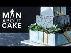 Succulent Wedding Cake FOR JAMES! | Man About Cake with Joshua John Russell - YouTube