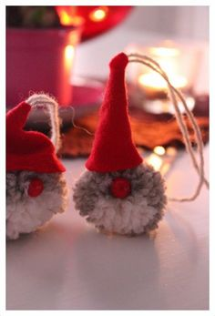 Täällä ollaan!: Tupsutonttu Christmas Toys, Christmas Activities, Winter Christmas, Christmas Decorations, Diy And Crafts, Crafts For Kids, Santa Ornaments, Bottle Crafts, Holiday Crafts