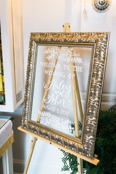 I wanted to share some of my DIY projects that I worked on for our big day! I made five main signs for the wedding which you will see below. I tried to keep fonts the same between these signs and I kept with the gold frames and white lettering on them as much as possible so things would feel cohesive between the rooms of our reception venue.