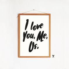 "PLAKAT ""I LOVE YOU, ME, US"""