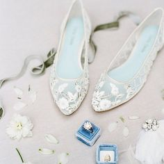 These handmade embroidered flats from Bella Belle is utterly romantic!  Screenshot or 'like' this pic to shop the product details from the new LIKEtoKNOW.it app, available now from the App Store! http://liketk.it/2qHcT #liketkit @liketoknow.it #shoes #weddingshoes #flats